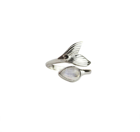 Ariel Moonstone Mermaid Ring