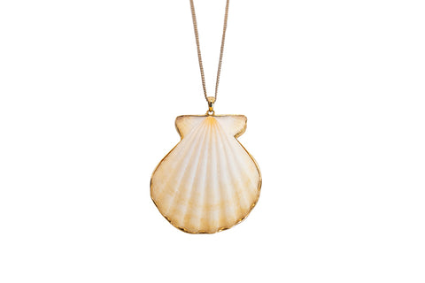 Golden Rays Scallop Pendant 18 Karat Gold