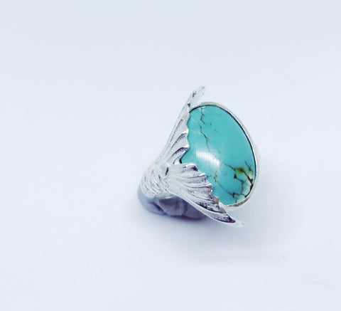 Sirena Mermaid Tail Ring- Turquoise