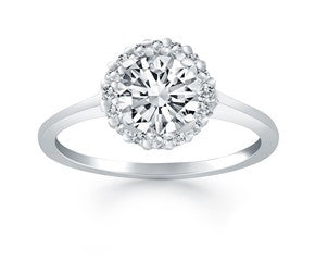 Diamond Halo Cathedral Engagement Ring