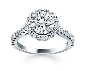 Cathedral Engagement Ring With micro Prong Diamond