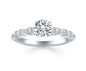 Fancy Shaped Diamond Engagement Ring