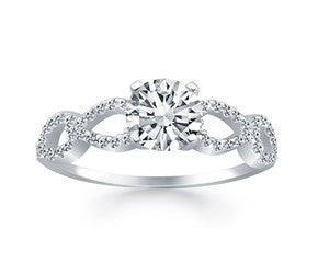 Double infinity Diamond Engagement Ring