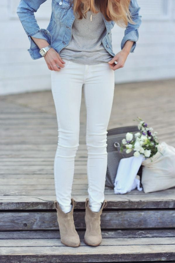 White Jeans: In For Spring