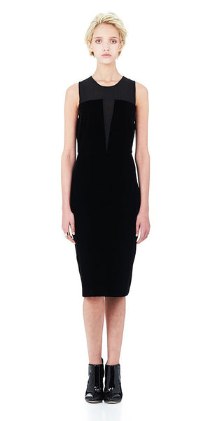 Revolution Midi Dress - Black Velvet