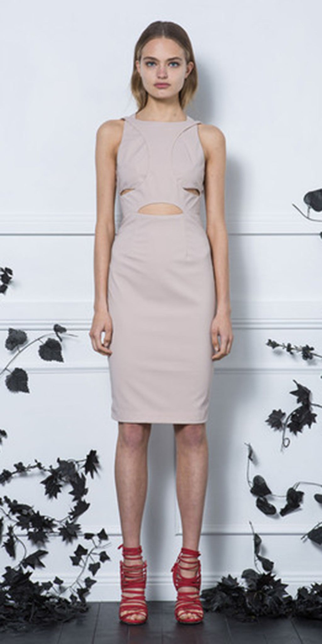 Ruled by Rules Dress - Nude