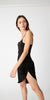 Twisted Slip Dress - Black