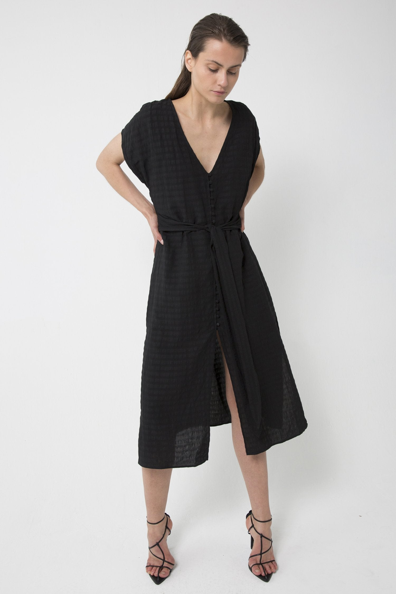 Day Break Tie Front Dress
