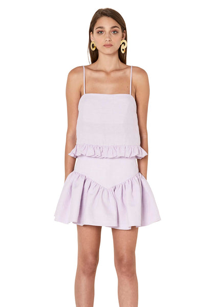 5de1afc053d8 Linen Drop Frill Mini Skirt · By Johnny