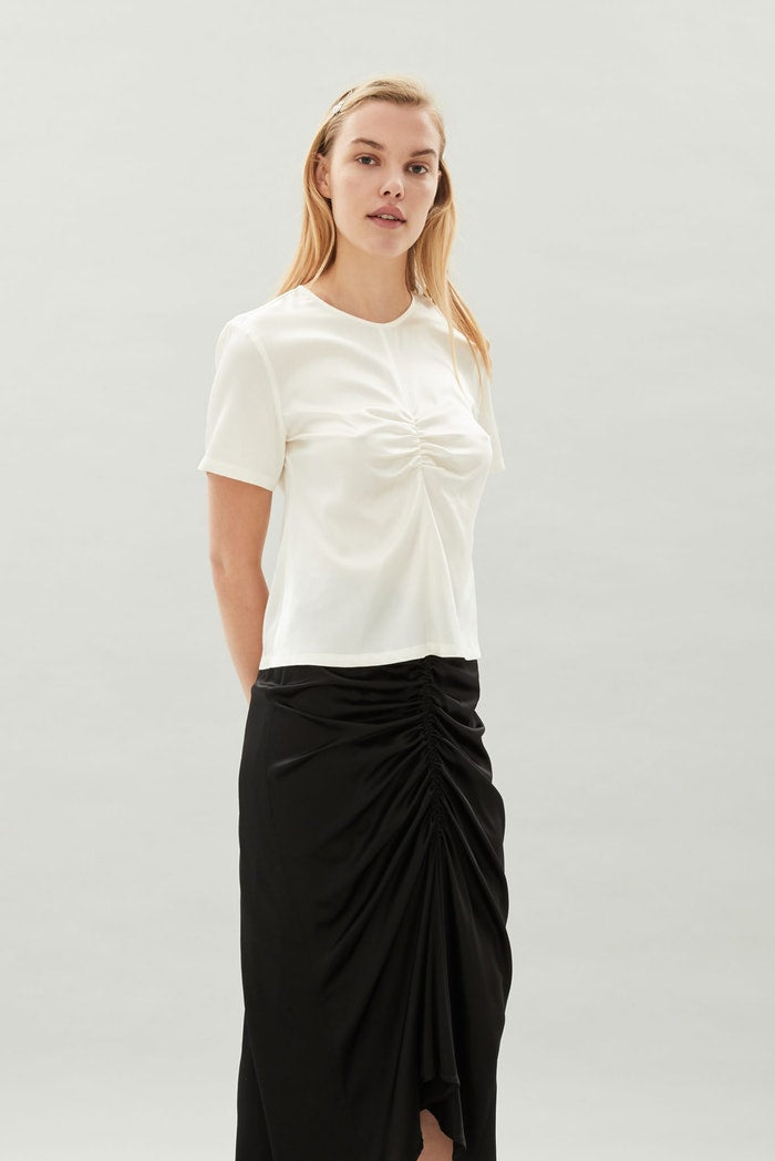 Christine Silk Top - Bone