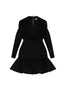 The Alex Cross Front Mini Dress - Black