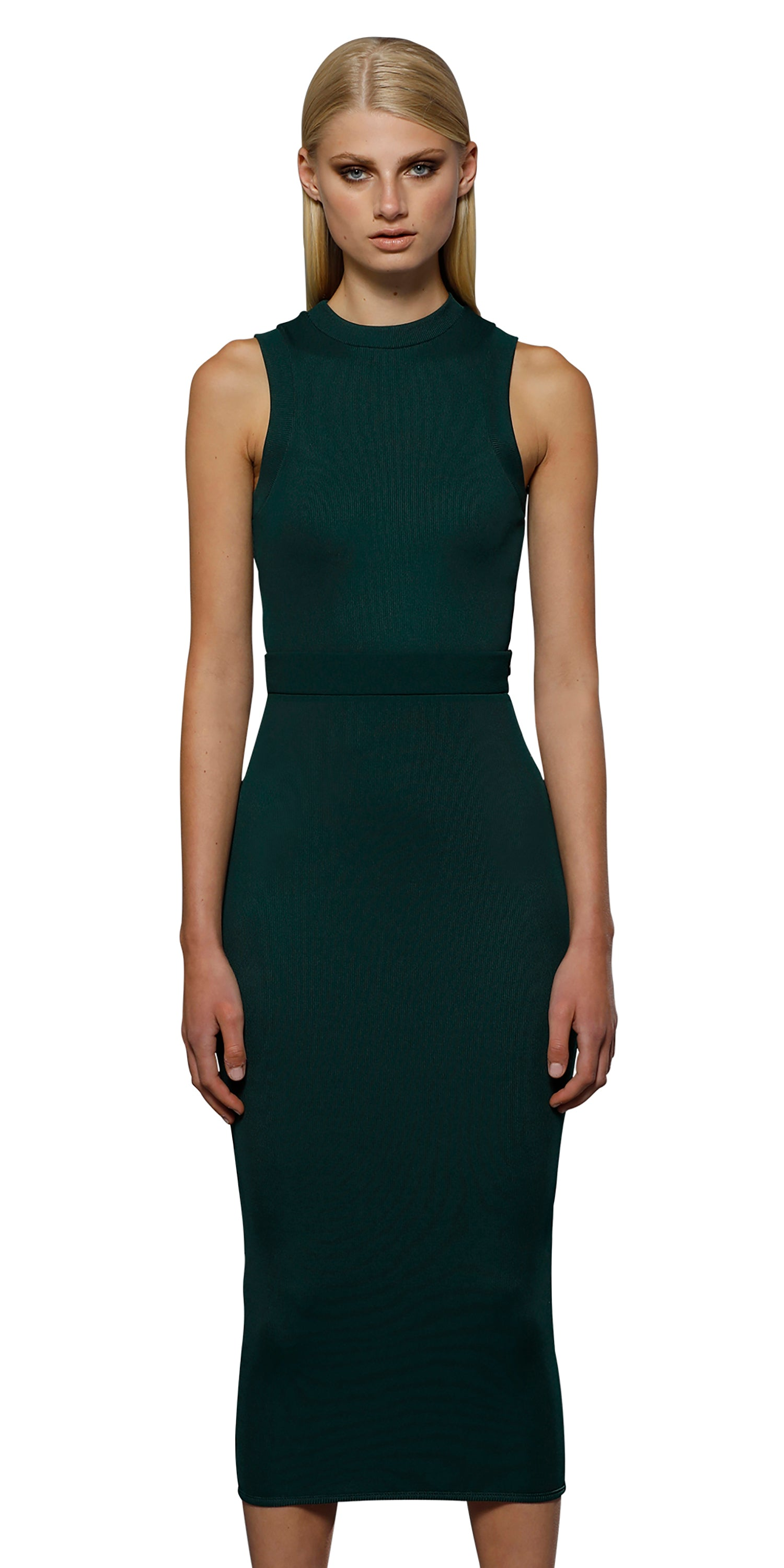 Racer Ribbed Top - Emerald