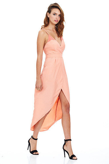Rio Wrap Dress - Peach