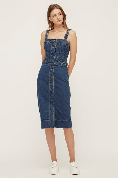 Lover Bailey Denim Pencil Dress