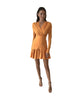 The Alex Cross Front Mini Dress - Nectarine