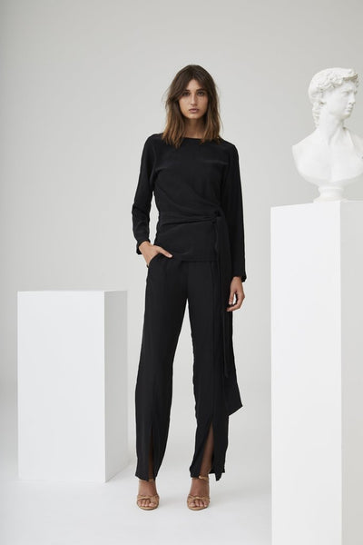 Margeaux Split Pant - Black