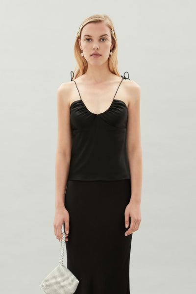 Lyle Silk Top - Black