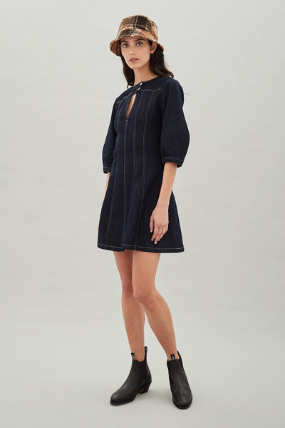 Latham Dress - Indigo
