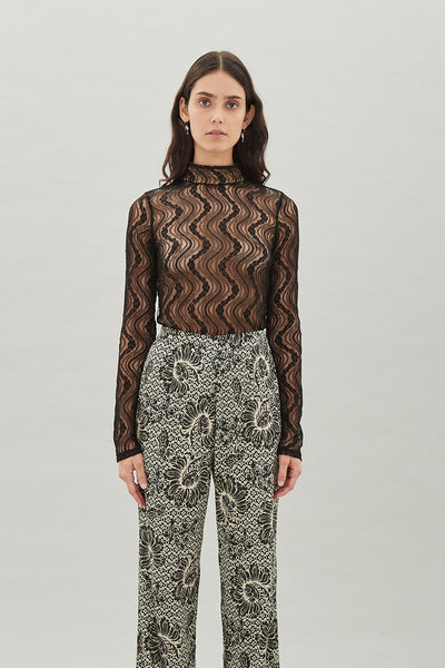 Nancy Turtleneck - Noir Lace