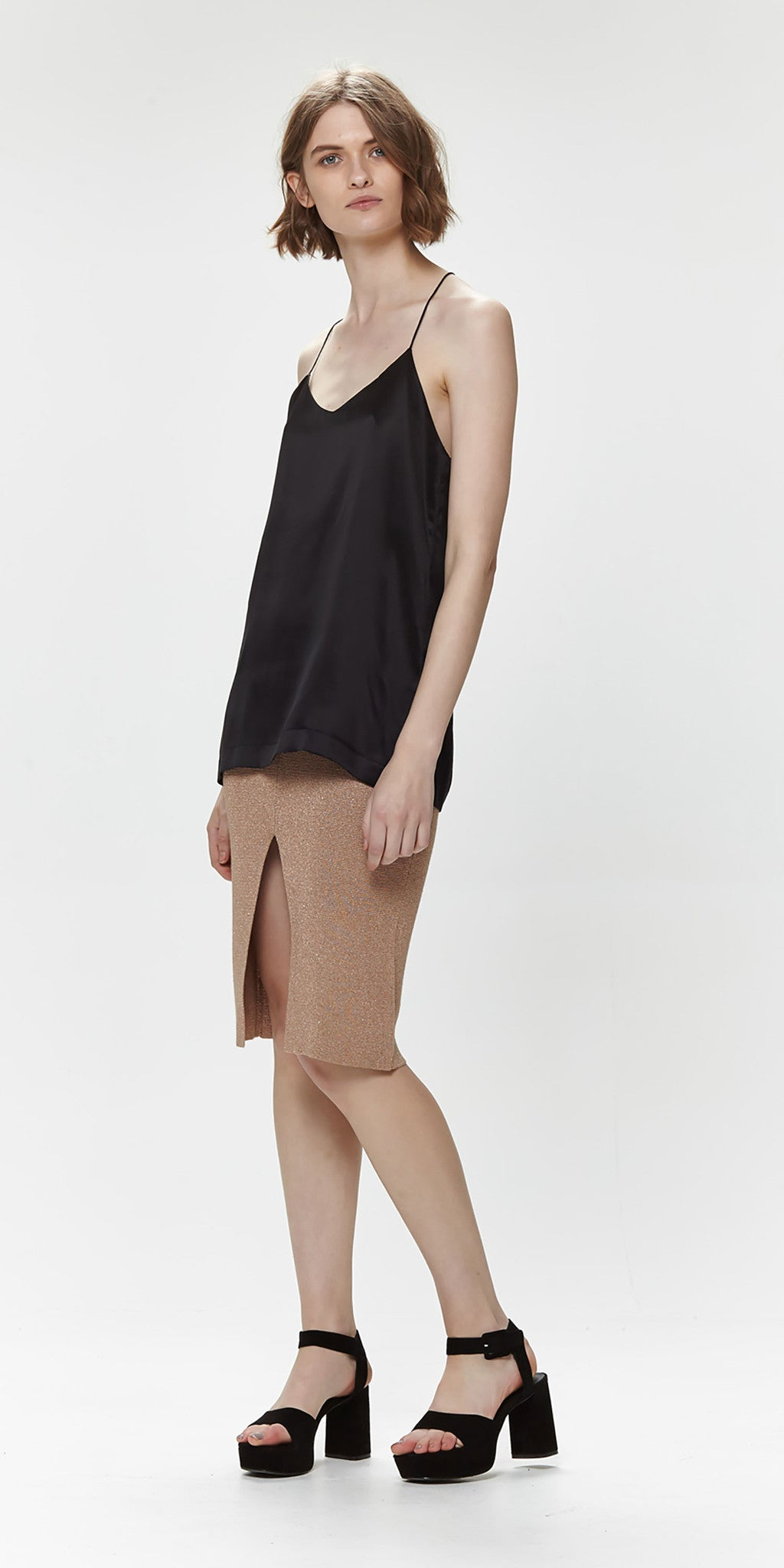 Sacha Silk Cami - Black
