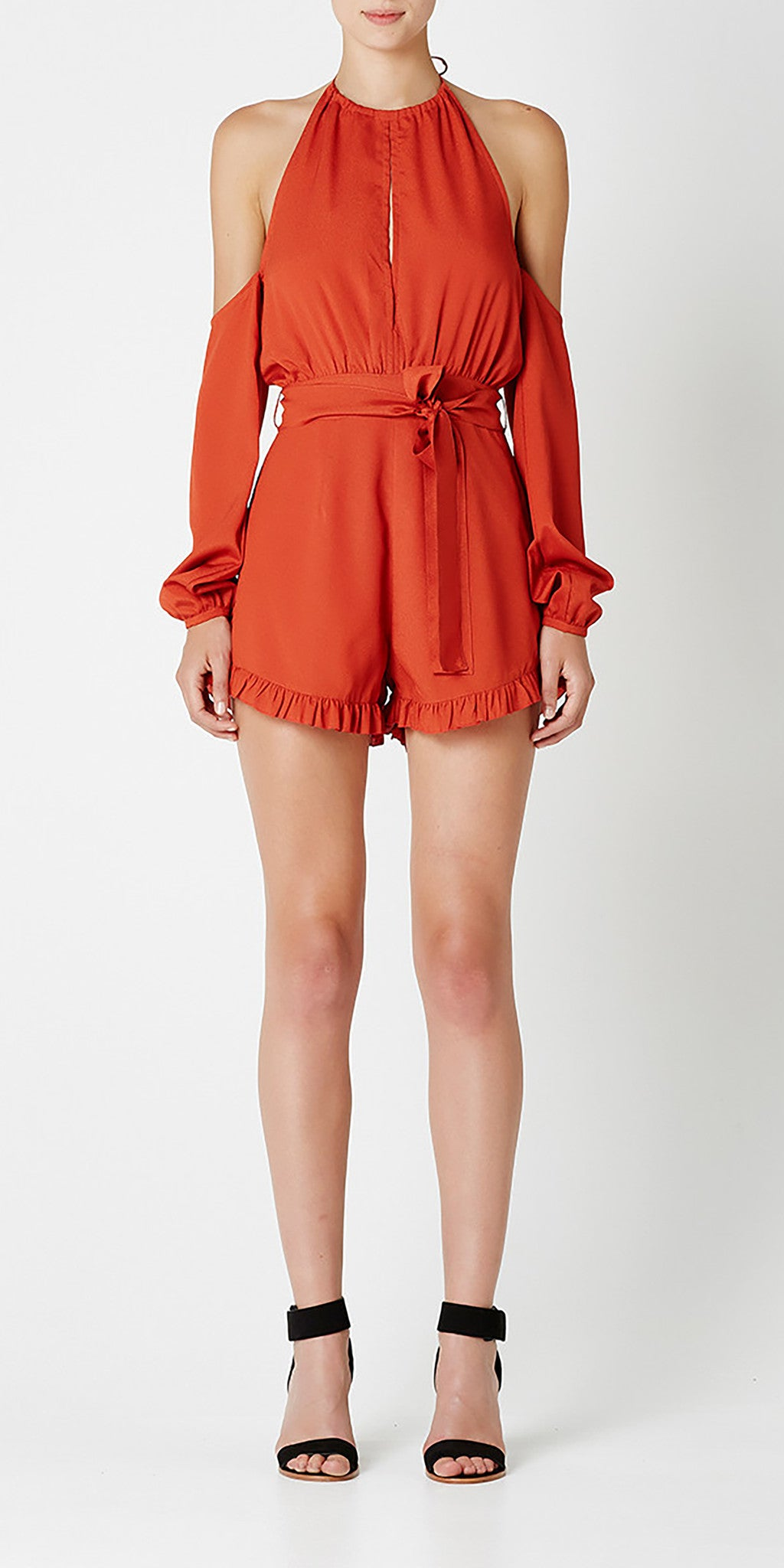 Tora Playsuit - Terracotta