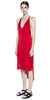 Satin Fine Line Cami Dress - Cherry