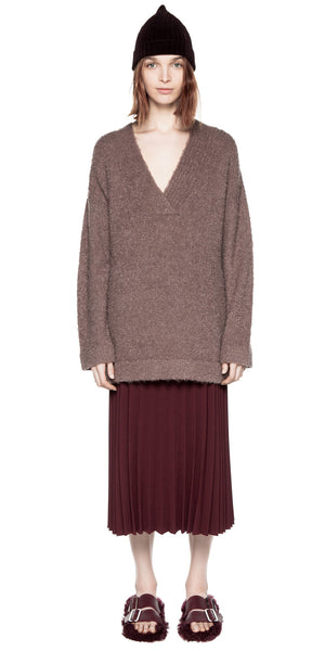 Shearling Boucle Sweater - Ash Rose