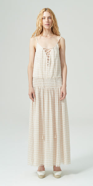 Millie Dress - Natural Check