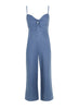 Presley Jumpsuit - Plain Washed Blue