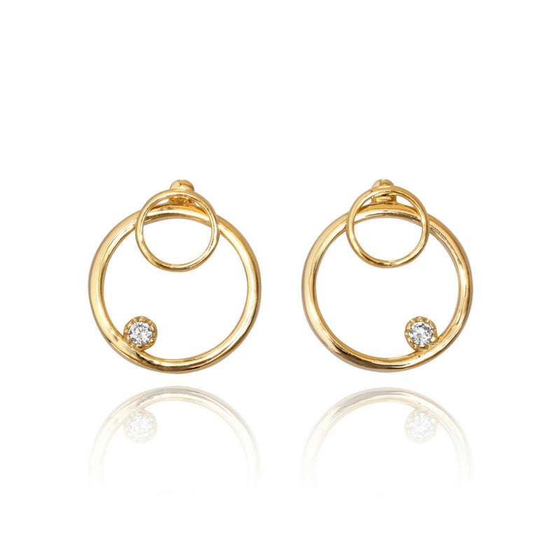Front Facing Hoop - Gold