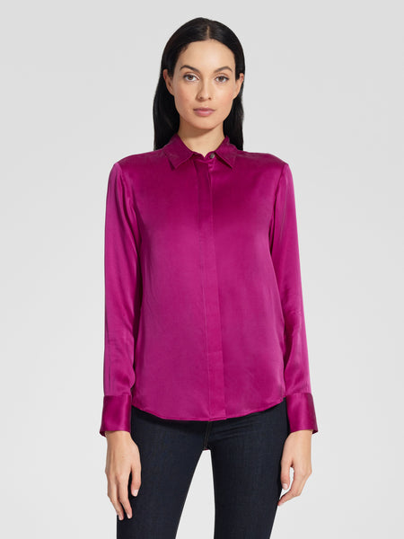 Washed Silk Shirt - Magenta