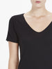 Scoop V Neck T-Shirt II - Black