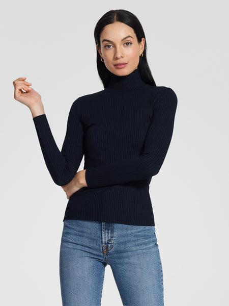 Luxe Rib Long Sleeve - Navy
