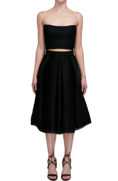 Mesh Folded Ball Skirt
