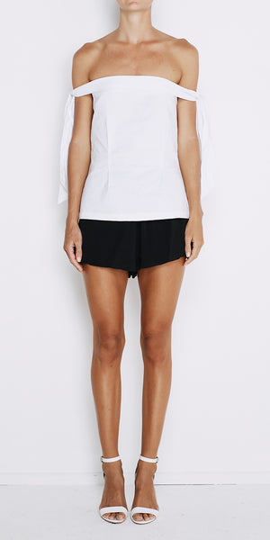 New York Shoulder Top - White