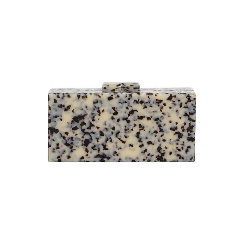 Resin Clutch w/Gold Chain - Light Tort