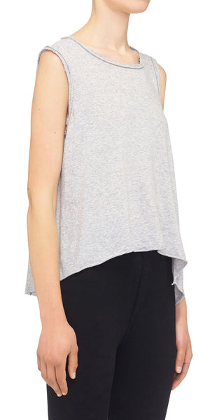Raw Edge Tank - Heather
