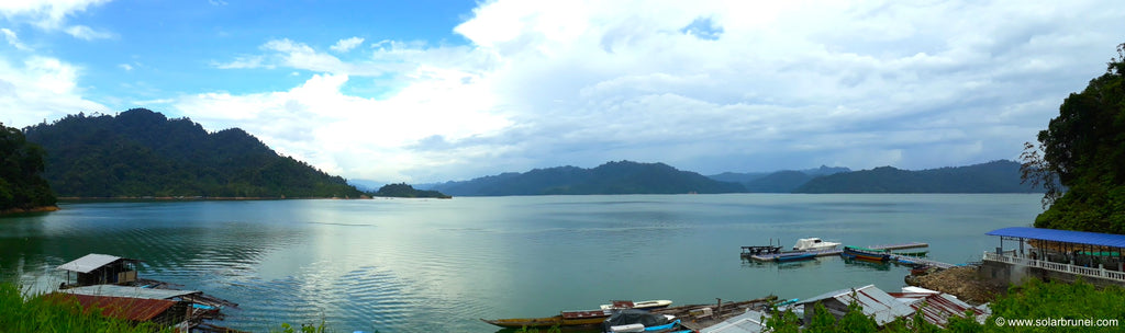 The vast Bakun reservoir - approximately the size of Singapore with many small islands on top.