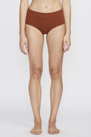 Pansy High Brief Rust