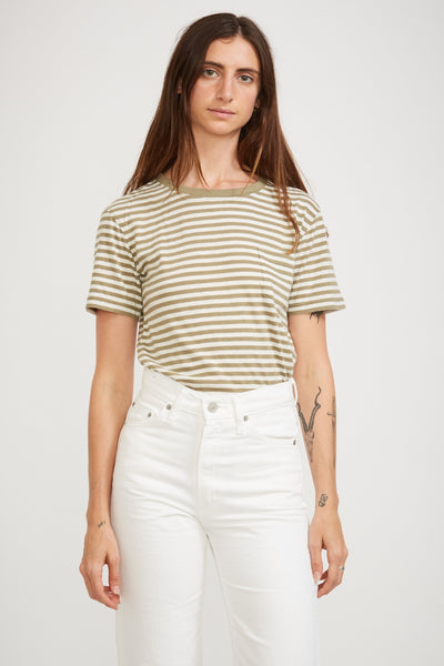 Heritage Stripe Tee Fern/Nature - Maplestore