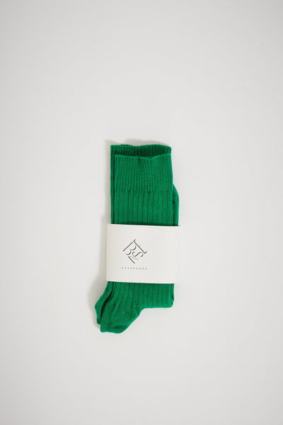 Rib Ankle Socks Green - Maplestore