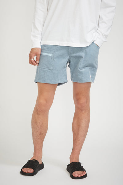 Local Shorts Light Blue Corduroy - Maplestore