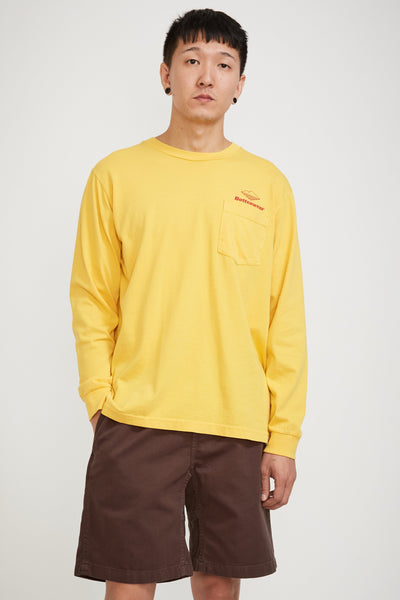 Team Long Sleeve Pocket Tee Mustard - Maplestore