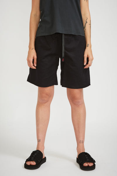 Linen W's G-Shorts Black - Maplestore