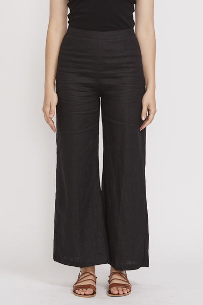 Sibyl Pants Plain Black - Maplestore
