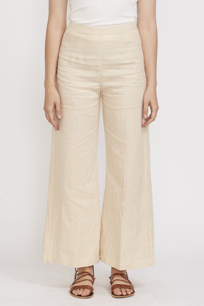 Sibyl Pants Plain Sand - Maplestore