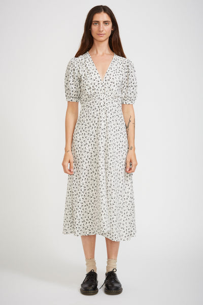 Sonja Midi Dress La Bleu Floral Print - Maplestore