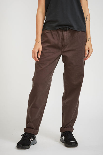W's Gramicci Pants Dark Brown - Maplestore