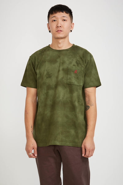 One Point Tee Tie Dye Olive - Maplestore