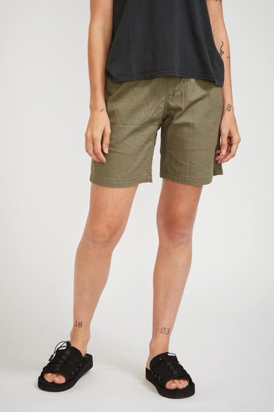 Linen W's G-Shorts Ash Green - Maplestore